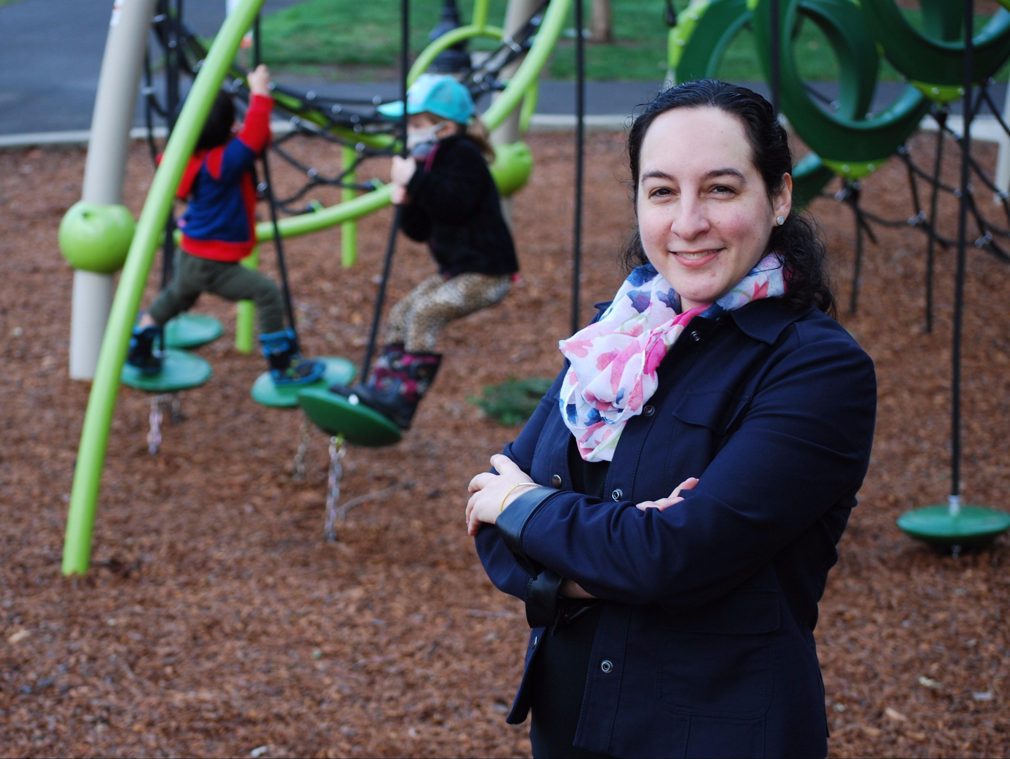 Felicita at a playground